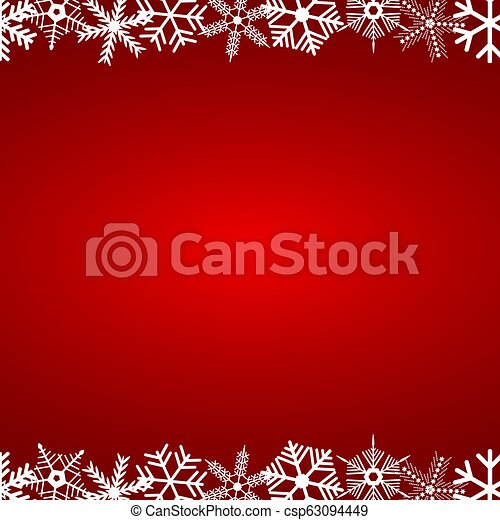 Christmas red background with snowflakes - csp63094449