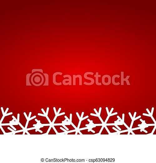 Christmas red background with snowflakes - csp63094829