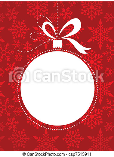 Christmas red background with snowflakes pattern - csp7515911