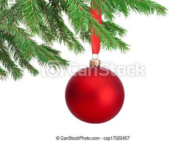 Weihnachtsbilder Tannenzweig.Christmas Tree Ball Hanging On Spruce Images And Stock Photos 4 419