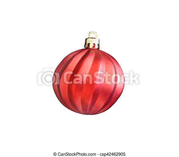 Christmas red ball isolated on white background - csp42462905