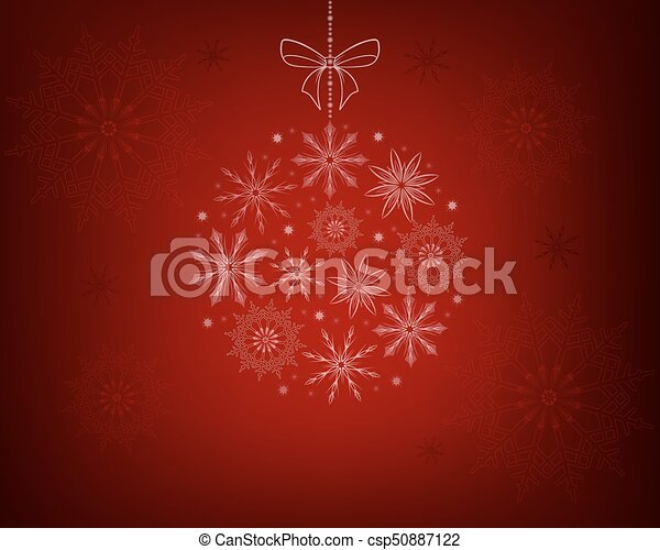 Christmas red design with snowflakes - csp50887122