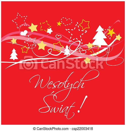 christmas red polish vector card