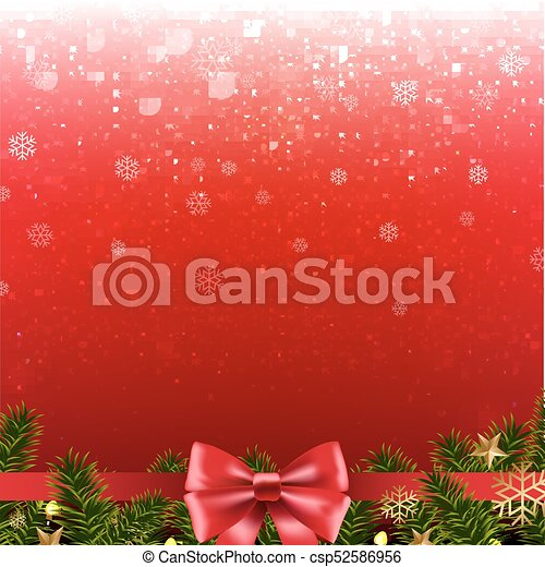 Christmas Red Poster - csp52586956