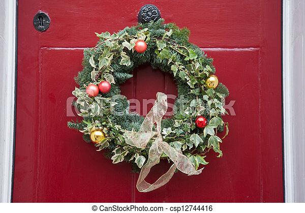 Christmas Reef.Christmas Reef On Door