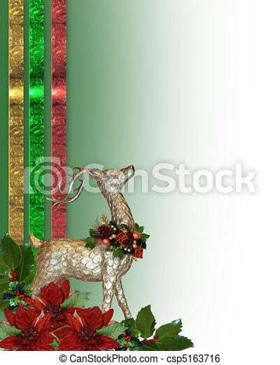 Christmas reindeer border - csp5163716