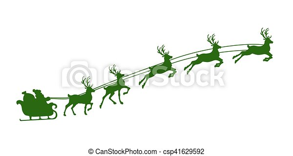christmas reindeer harness - csp41629592