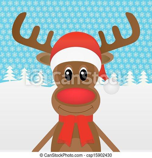 Christmas Reindeer In The Woods