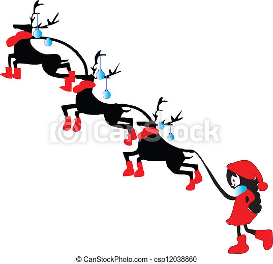 Christmas Reindeer Little Santa