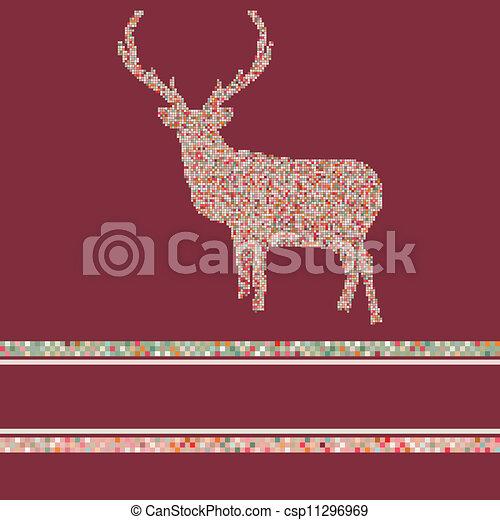 Christmas reindeer silhouette. EPS 8 - csp11296969