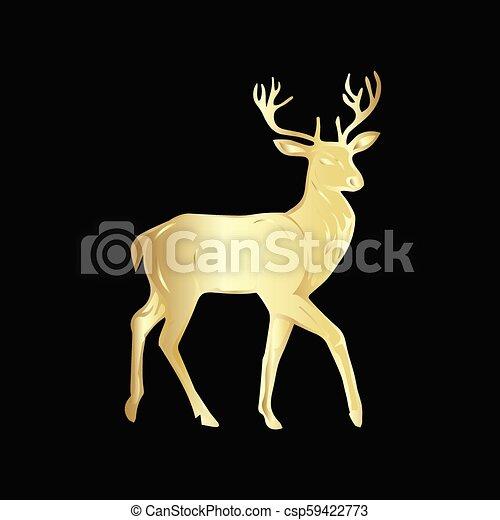 Christmas Reindeer Silhouette.Christmas Reindeer Silhouette