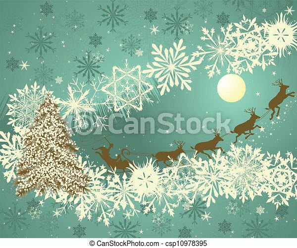 Christmas retro - csp10978395