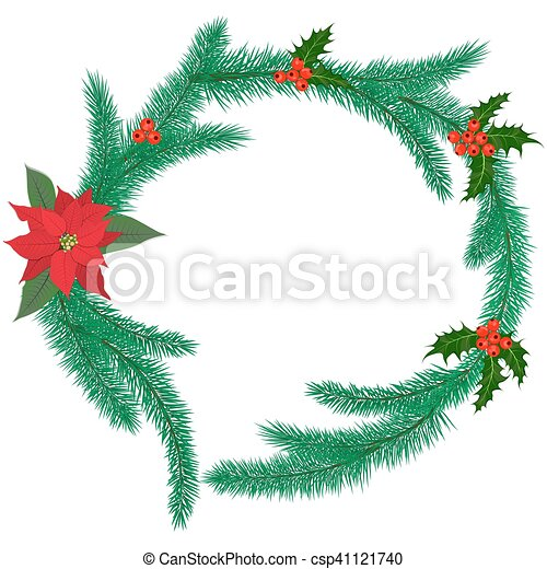 Christmas Ring.Christmas Ring With Mistletoe