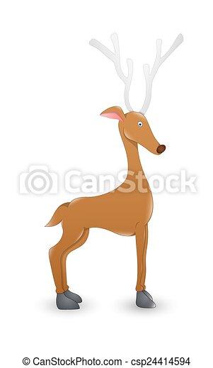 Christmas Rudolph Reindeer Animal - csp24414594