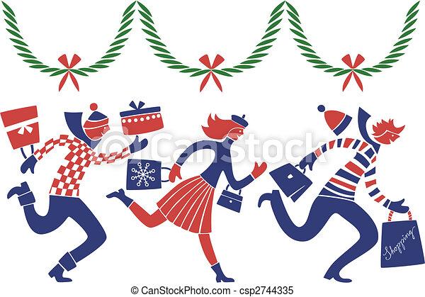 Christmas rush - csp2744335