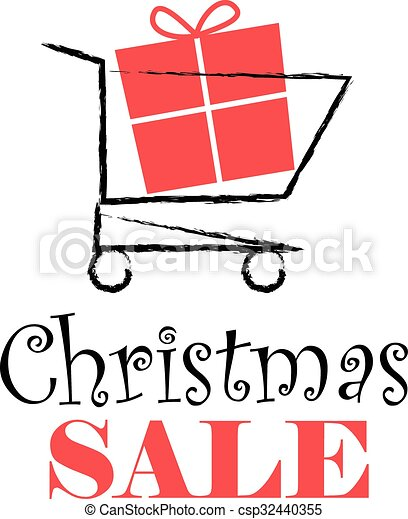Christmas sale banner design - csp32440355