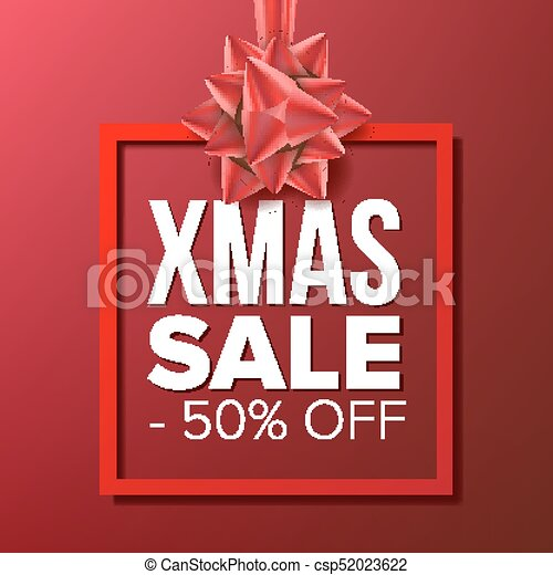 f1c7b7c569 Christmas Sale Banner Vector. Big Super Sale. Cartoon Business Brochure  Illustration. Winter Design