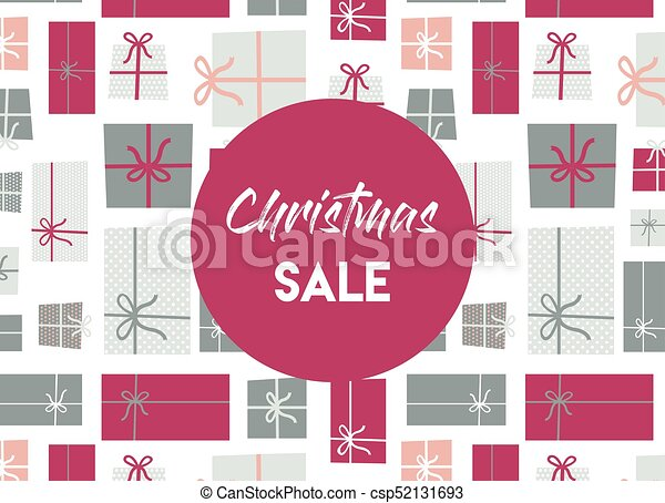 christmas sale. christmas present background. - csp52131693