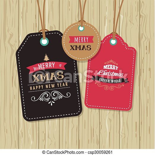 Christmas Sale, Gift Tags and labels - csp30059261
