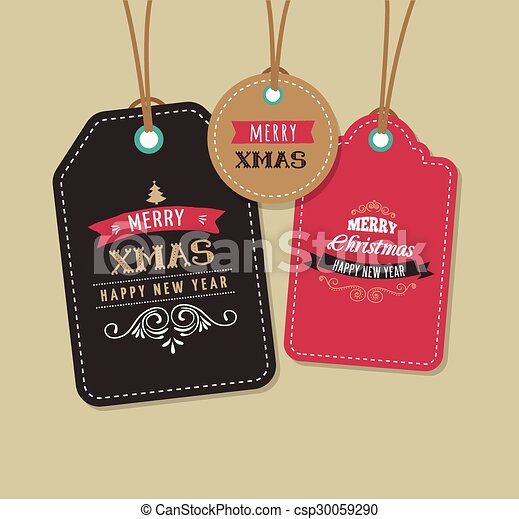 Christmas Sale, Gift Tags and labels - csp30059290