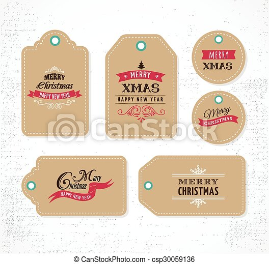Christmas Sale, Gift Tags and labels - csp30059136