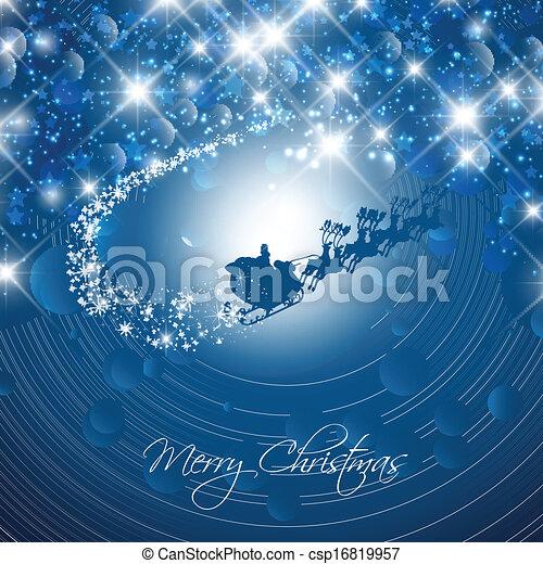 Christmas santa background - csp16819957