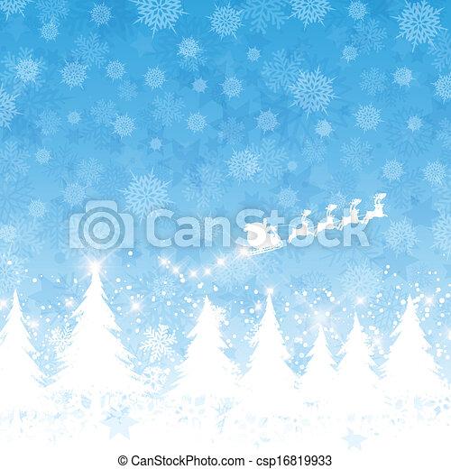 Christmas santa background  - csp16819933