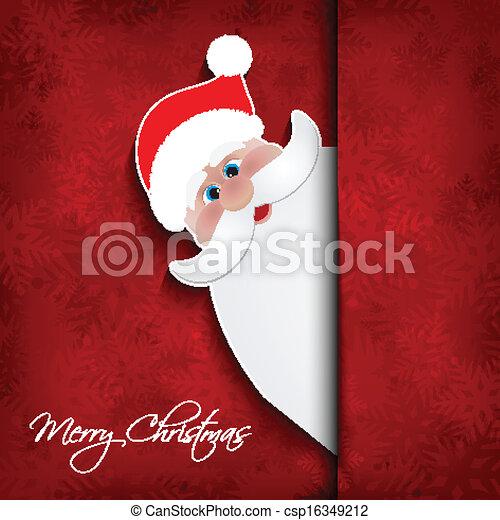 Christmas santa background  - csp16349212