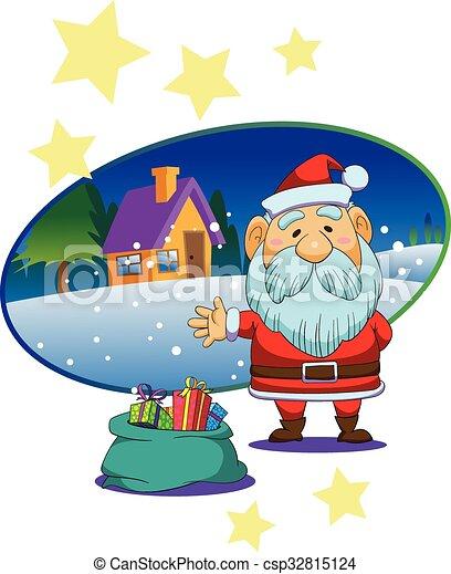 Christmas Santa Claus Cartoon Vector