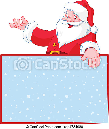 Christmas Santa Claus over blank g - csp4784980