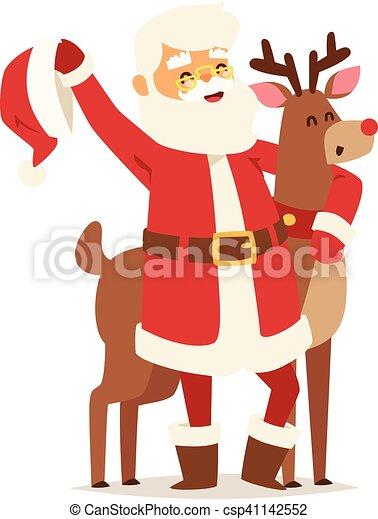 Christmas santa claus vector illustration. - csp41142552