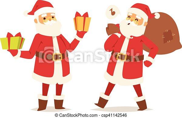 Christmas santa claus vector illustration. - csp41142546