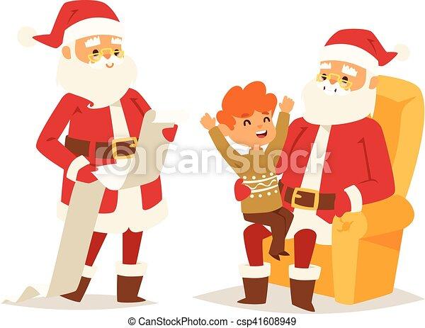 Christmas santa claus vector illustration. - csp41608949