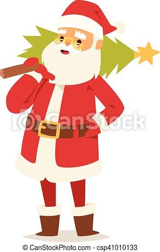 Christmas santa claus vector illustration. - csp41010133