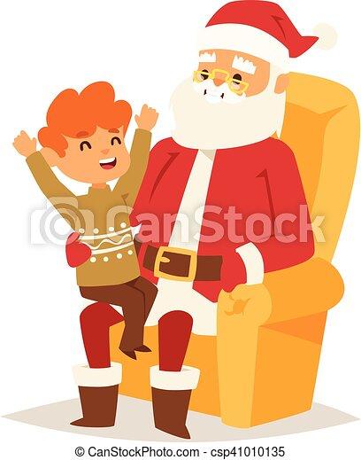 Christmas santa claus vector illustration. - csp41010135
