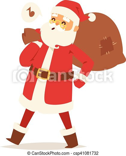 Christmas santa claus vector illustration. - csp41081732