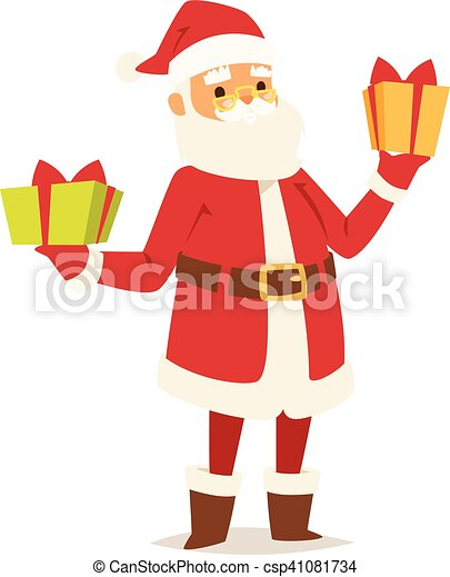 Christmas santa claus vector illustration. - csp41081734