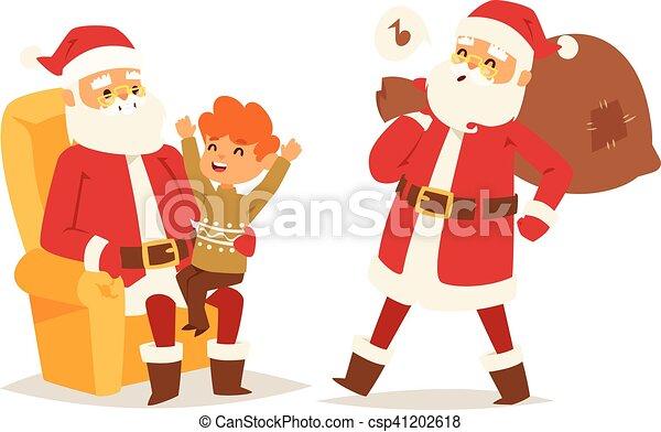 Christmas santa claus vector illustration. - csp41202618
