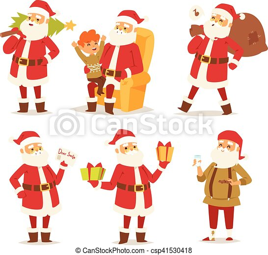 Christmas santa claus vector illustration. - csp41530418
