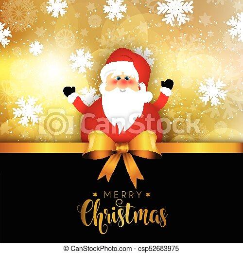 Christmas santa on snowflake background 1411 - csp52683975