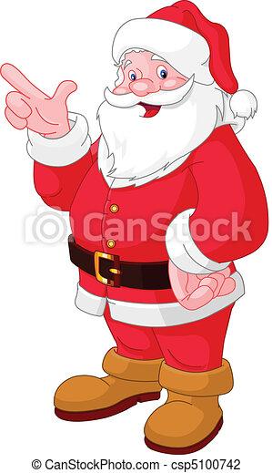Christmas Santa pointing  - csp5100742