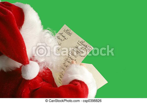 christmas santa - csp0398826