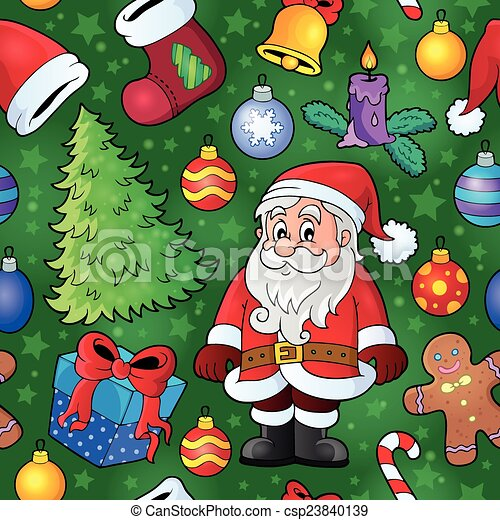 Christmas seamless background 8 - csp23840139