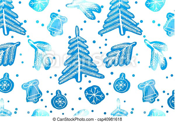 Christmas seamless cute pattern. - csp40981618