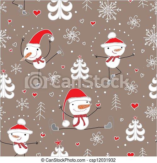 Christmas seamless pattern. - csp12031932