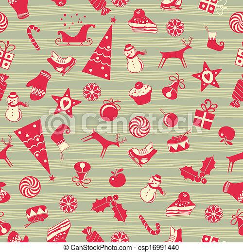 Christmas Seamless Pattern - csp16991440