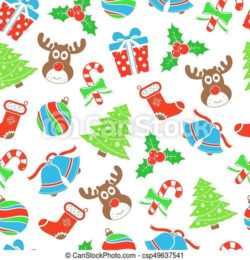 Christmas seamless pattern - csp49637541