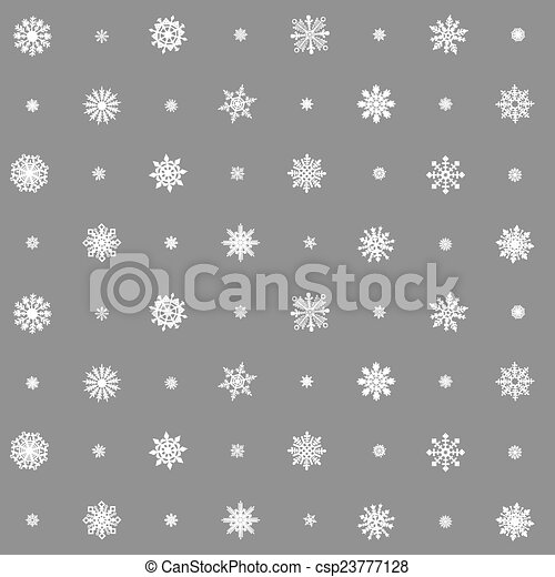 Christmas seamless pattern from multicolored snowflakes on background - csp23777128