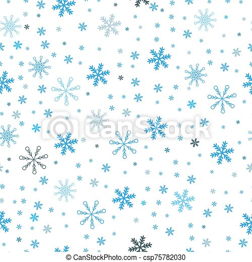 Christmas seamless pattern of snowflakes, gray on white background - csp75782030