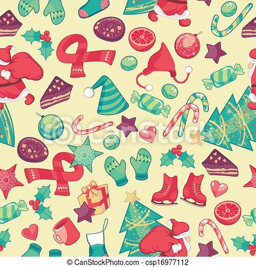 Christmas Seamless Pattern - csp16977112